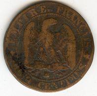 France 5 Centimes 1862 BB GAD 155 KM 797.2 - France