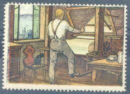 "Vignette  ""Seiden Grieder - Mann Am Webstuhl""            Ca. 1930 - Suisse"