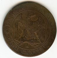 France 5 Centimes 1864 A GAD 155 KM 797.1 - France