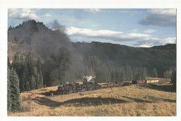 CPSM,Th.Transp., Cumbres & Toltec Scenic Railroad , Denver & Rio Grande Western 484 & 487, Ed. Mary  Jayne's Railroad - Trenes