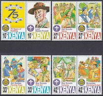 Kenia Kenya 1997 Organisationen Pfadfinder Scouts Girl Guides Jugend Youth Zeltlager Camping Hiking, Mi. 718-5 ** - Kenia (1963-...)
