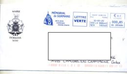 Lettre Flamme Ema Saint Gibrien Memorial De Dormans Entete Mairie - Poststempel (Briefe)