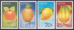 Kenia Kenya 1997 Pflanzen Plants Obst Früchte Fruits Orangen Ananas Mango Papaya Landwirtschaft Agriculture, Mi. 709-2** - Kenia (1963-...)