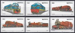 Kenia Kenya 1997 Transport Eisenbahnen Railways Lokomotiven Trains Locomotive Locomotora Locomotiva, Mi. 703-8 ** - Kenia (1963-...)