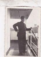 RARE PHOTO OFFICIER / A BORD D UN BATEAU JUIN 1934 YANG TSE / CANONNIERE ?? - China