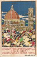 (CP).Pubblicitaria Della Seconda Fiera Del Libro Internazionale Del 1925 Disegnata Da Benedetti (16-a17) - Werbepostkarten