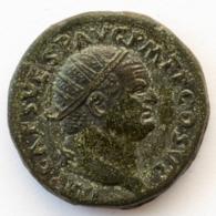 Roman Empire - Vespasianus - FELICITA PVBLICA -  SC- XF! - Dupondius (#658) - 2. The Flavians (69 AD To 96 AD)