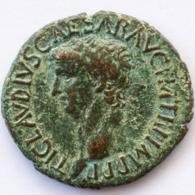 Roman Empire - Claudius - SC - Minerva In Voller Rüstung - VF! - As (#661) - 1. The Julio-Claudians (27 BC To 69 AD)