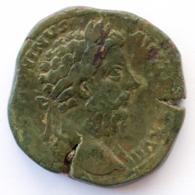 Roman Empire - Marcus Aurelius - IMP VIIII COS III P P SC- VF! - Sesterz (#662) - 3. The Anthonines (96 AD To 192 AD)