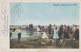 Ostende - Plage Sur La Sable - Oostende