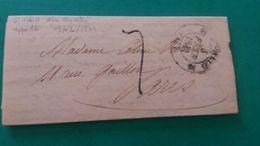 LAC De Saint Malo Type 12 Taxée à 7 Décimes Du 3/02/1844 à Paris. TB. - Marcophilie (Lettres)