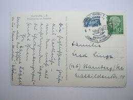 1956 , Karlsruhe - Lebensmittel Ausstellung , Werbestempel Auf Karte - [7] Federal Republic