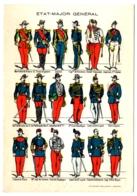 CPSM MILITARIA - Uniformes D'ETAT-MAJOR GENERAL De L'Armée Française - Imagerie Pellerin D'Epinal - Uniformes