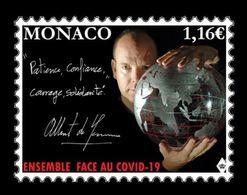 Monaco 2020 Mih. 3491 Fight Against COVID-19 Coronavirus. Prince Albert II MNH ** - Monaco