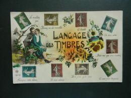 CPA   LE LANGAGE DES TIMBRES - Autres