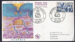 Enveloppe Fdc  Journee Du Timbre 1955 Alger - FDC