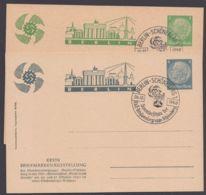 """Mi-Nr. PP 125 C3, 125 C27, """"Ausstellung Schöneberg"""", 1940, Je Pass. Sst - Postwaardestukken"""