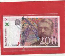 200 FRANCS . GUSTAVE EIFFEL . 1999 . N° A 076431446 . 2 SCANES - 1992-2000 Ultima Gama