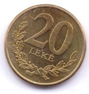 ALBANIA 2016: 20 Leke, KM 78a - Albania