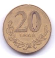 ALBANIA 1996: 20 Leke, KM 78 - Albania