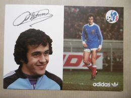 Football Joueur De Foot PLATINI Michel FFF Avec ADIDAS - Soccer