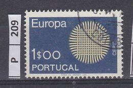 PORTOGALLO     1970Europa 1 Usato - Used Stamps