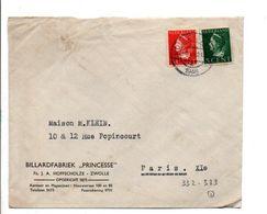 PAYS BAS AFFRANCHISSEMENT COMPOSE SUR LETTRE POUR LA FRANCE 1921 - 1891-1948 (Wilhelmine)
