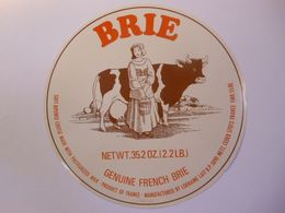 TGE55022a - Grande étiquette De Fromage De BRIE - GENUINE FRENCH BRIE - Fabriqué Par Hutin à VIGNEULLES 55BE - Käse