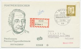 Registered Cover / Postmark Germany 1964 Franz Oppenheimer - Physicist - Nuclear Weapons - Sciences