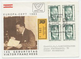 Registered Cover / Postmark Austria 1983 Viktor Franz Hess - Physicist - Nobel Prize Laureates
