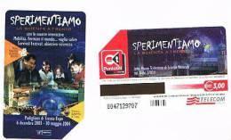 TELECOM ITALIA - C.& C. F3837 - 2003 TRENTO, SPERIMENTIAMO LA SCIENZA         -  USATA - Italia