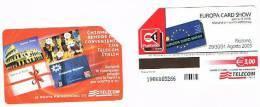 TELECOM ITALIA - C.& C. F3780  -   2003, RICCIONE, EUROPA CARD SHOW       -  USATA - Italia