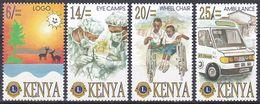 Kenia Kenya 1996 Organisationen Wohlfahrt Welfare Lions Club Medizin Medicine Gesundheit Health Ambulanz, Mi. 692-5 ** - Kenia (1963-...)