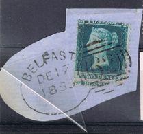 Victoria 2d Blue On Piece 1853 - 1840-1901 (Victoria)