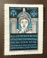 Werbemarke Cinderella Poster Stamp  Gewerbezeichnertag München 1912  #353 - Cinderellas
