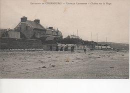 Cpa C42 Environs De CHERBOURG - URVILLE LANDEMER  Chalets Sur La Plage-animée - Cherbourg
