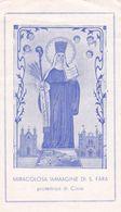 Santino Miracolosa Immagine Di S. Fara - Protettrice Di Cinisi - Devotion Images