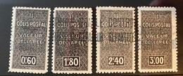 Algérie/Algeria Colis Postaux YT 51-54 Neuf* Railway Parcels - Paketmarken