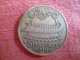 Liban. 5 Piastres 1933 - Libano