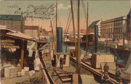 AK Danzig - Hafen Packhof 1910 - Westpreussen