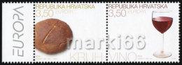 Croatia - 2005 - Europa CEPT - Gastronomy - Mint Stamp Set - Kroatien