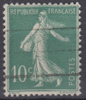 FRANCE : SEMEUSE 10c VERT N° 188B CHIFFRES MAIGRES OBLITERATION LEGERE - 1906-38 Semeuse Camée