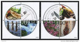 Iceland - 2005 - Europa CEPT - Gastronomy - Mint Stamp Set - Ungebraucht