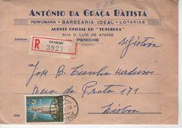 1968 , Fatima Stamp , Registration Label And Peniche Postmark , Wax Seal On Reverse , Antonio Graça Batista Cover - Christianity