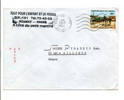 NIGER SEUL SUR LETTRE AVION A EN TETE POUR LA FRANCE 1983 - Niger (1960-...)