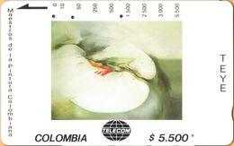 Colombia - CO-MT-55, Tamura, Melus, Teye, Art, 5,500 $, 10.000ex, Used As Scan - Kolumbien