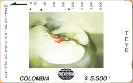 Colombia - CO-MT-55, Tamura, Melus, Teye, Art, 5,500 $, 10.000ex, Used As Scan - Colombia