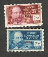 FRENCH EQUATORIAL AFRICA.....1939:Yvert122-3mnh** - Nuovi