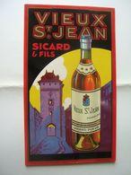 Vieux St-Jean Sicard & Fils    Cognac St Jean-d'Angély - Plaques En Carton