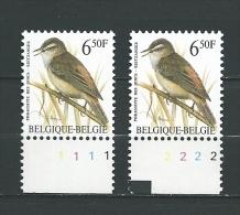 Zegel 2577 ** Postfris Met Plaatnummers 1-2 - 1991-2000
